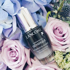 My third bottle of @lancomeofficial Advanced Genifique Youth Activating Concentrate serum, and I'm still loving it as much as the first day I brought it home ❤ x . #clozette #bbloggers #beautychat #lancome #sgig #lancomesg #sephorasg #sephora