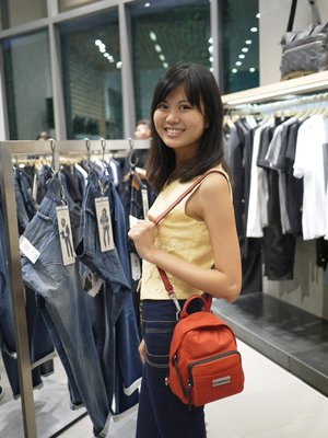 Such an adorable mini backpack (can be worn 2 ways) from Calvin Klein!!