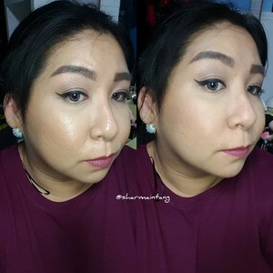 This is how my foundation looked after 10 hours!  Left - Before Blotting Right - After Blotting  I have posted my thoughts and first impression so if you are interested, pop by for a quick read! (Link in Bio) 《Makeup Details》 FACE: #hourglass Vanish Foundation, #zoeva Nude Spectrum Bronzer, #beccacosmetics Flowechild Blush, #maccosmetics Pro Longwear Concealer and Studio Fix Powder  EYES: #covergirl Tru Naked Nudes Palette and Super Sizer Mascara, #physiciansformula Eye Booster Eyeliner, #benefitcosmetics Goof Proof Pencil and Gimme Brow  LIPS: #jeffreestarcosmetics Androgyny Liquid Lipstick  #clozette #igmakeup #instamakeup #sgmakeup #sgblogger #beautyblogger #motw #makeupjunkie #makeupporn #wakeupandmakeup #hudabeauty #makeupartistworldwide #anastasiabeverlyhills #desimakeup #vegas_nay #dressyourface #slave2beauty #ssssamanthaa #makeup #selfie #fotd #glam