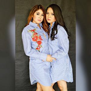 Fun photoshoot with my bff @tetaymijares always so happy when i'm with her! #Clozette #twinning ❤️ Hair & Makeup: @bryan_ponce15 Photo📸: @zammijares Wardrobe: @mitchaiz012