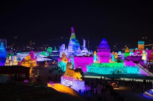 How can I not be at awe with this place? Everything is made out of ice blocks and the whole city lit up with colorful lights at night. Took my breath away, literally. *Partly cos it's cold too 😂 -Ice & Snow World, #Harbin . . #harbinicewonderland #winterwonderland #cityoflight #awesome #travelblogger #lifewelltravelled #blogger #clozette #divainmetravel #divagoestochina #china #harbinchina #iceandsnowworld #icesculpture #roadlesstraveled #winter #scenery #nightlights