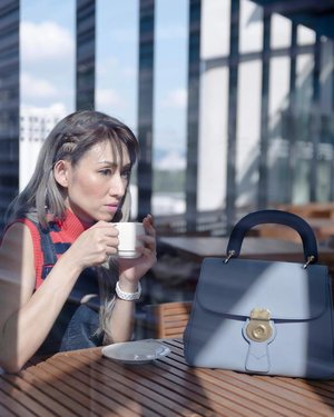 Coffee with the morning sun on my chic Slate Blue DK88 Bag. How's your morning so far? ... Read more about my life With Burberry #TheDk88bag on my blog now (link in bio @stilettoesdiva) . . #DivaLovesBurberry #ootd #outfit #burberry #dk88bag #outfit #accessories #handbag #fashion #fashionpost #fashionista #fashionblogger #blogger #coffeerun #style #itsmylife #blue #instafashion #clozette #kualalumpur #goodmorning