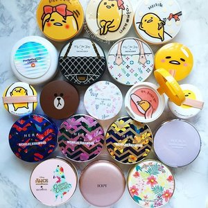 Oh hai there~ just some of my haul from Korea joining my existing stash of new cushions heh 🤗 #bbcushion #Gudetama #holikaholika #mac #seatree #thefaceshop #myotherbag #brown #line #linefriends #hera #heraxnicholaskirkwood #iope #aliceinwonderland #shuuemura #kyeforshu #beauty #beautyblog #beautyblogger #clozette #맥  #beautyaddict #bblogger  #makeup #makeupjunkie #makeupaddict #makeupstash #슈에무라 #구데타마 #cushionfoundation