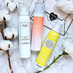 Ooh~ 👀 lookie at these new mousse-type products. ☁️ Ouai Dry Shampoo ☁️ Laneige Morning Mask ☁️ SuperGoop! Sunblock  Ouai Dry Shampoo is supposedly Kim K's favourite, while the Morning Mask (in mousse form) from Laneige is from their new Fresh Calming Line that's targeted at oily skin which also happens to be dehydrated underneath. Andddd sunblock in a mousse form? The first comes from SuperGoop! - - - #ouai #laneige #laneigesg #supergoop #sephora #sephorasg #dryshampoo #sunblock #sunscreen #morningmask #calmingsoon #slave2makeup #clozette #라네즈 #makeupslaves #skincare #skincareblogger #skincareroutine #igbeauty #instabeauty