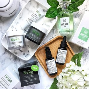 Green is the theme of the day (well, almost) - @lovephilosophy has launched a new Night Oil-Free Detoxifying Gel-Balm, while @thebodyshopsg makes it smell like (green) roses with its White Musk scent. And psst, if you've got sensitive skin or are just looking for an organic skincare brand, try homegrown brand @keworganics for its skincare as well as world's first organic facial peel that's gentle enough even for the eye area. 🤗🍃 - - - #philosophysg #philosophyskincare #keworganics #organicskincare #thebodyshopsg #whitemusk #scentsy #edt #perfume #clozette #skincare #skincareblogger #beautyblog #gogreen #lovephilosophy