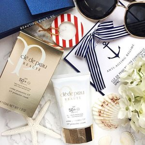 The skies may be cloudy today but don't forget to apply your sunblock~ today I haz on this soon-to-be-launched @cledepeaubeautesg UV Protective cream - it's lightweight and non sticky nor greasy~🤗 Look out for it in April!  #cledepeau #cledepeausg #sunblock #sunscreen #suncream #nautical #sunprotection #luxurybeauty #beauty #beautyblog #beautyblogger #clozette  #beautyaddict #bblogger #instabeauty  #beautyjunkie #trendmood #skincare #skincareblogger #makeuphoarder #igbeauty #sgigbeauty #journeytoradiance