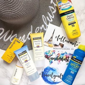 Looking for a sunscreen (and also a sun hat at the same time)? @neutrogena has a variety of products to suit all needs - whether you're a sports lover, beach-loving bum, have eczema skin or even are looking for a multi-tasking sunscreen for both your face and body. 🤗 In addition, they're having a promotion where you can get a sun hat (worth $59.90) when you purchase $30 and above of Neutrogena products. Available at cold storage, fairprice, Giant, guardian, watsons and other selected locations. Check out their fb page for more deets 😎  #neutrogena #neutrogenasg #sunhat #sunscreen #sunblock #sunprotrection #spf #beauty #beautyblog #beautyblogger #clozette  #beautyaddict #bblogger #instabeauty  #makeup #makeupjunkie #makeupaddict #makeupstash  #beautyjunkie #trendmood #skincare #skincareblogger #makeuphoarder #igbeauty #sgigbeauty