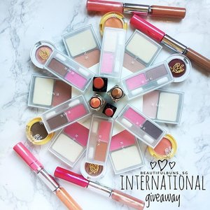 [INTL GIVEAWAY: 6 SETS] Yoohoo! To chase away them impending Monday blues, I'm doing an international giveaway! 🤗  6 lucky winners will each walk away with a LBH - little beauty hamper - consisting of the following items from Spring Summer 2017 Collections: a) RMK cheek colour  b) RMK eye colour duo c) Etude House eyeshadow pot d) RMK lip gloss duo OR lipstick (Shades will be packed at random). To win 1 set, all you have to do is: 1. Be my follower  2. Like this photo  3. Leave a comment telling me what's one makeup item you cannot live without.  And that's it!  Terms & conditions: 1. Giveaway open to all my followers (does not include accounts that are only doing giveaway entries). 2. Giveaway closes on 14 March 2017, 11.00pm (Singapore time, GMT+8). 3. Winners will be selected at random and announced on 21 March 2017.  Good luck everybardy~ 😘  #beauty #beautyblog #beautyblogger #clozette  #beautyaddict #bblogger #instabeauty  #makeup #makeupjunkie #makeupaddict #makeupstash  #beautyjunkie #trendmood #skincare #skincareblogger #makeuphoarder #igbeauty #sgigbeauty #giveaway #contest #rmk #etudehouse #eyeshadow #blusher #pink #💖