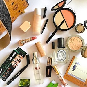 Friday Picks!  1⃣Shu Uemura skin:FIT cosmetic water foundation (lasted for long hours on my first trial!)(1 June)  2⃣Shu Uemura brow:sword eyebrow pencil (brush, sharperner and refillable)(1 July)  3⃣Bobbi Brown Face &Body Bronzing Duo from Sandy Nude Collection (11 June)  4⃣Urban Decay Eyeshadow in Sideline (June)  5⃣YSL Vernis A Levres Plump Up & Full Metal Shadow in 04 (June)  6⃣SkII Pitera Mid-Day Miracle Essence Spray Mist (been using daily over makeup and hydrates my under eye on-the-go thoughout the day)  7⃣Benefit They're Real Push up liner in green (black, purple, blue & brown too!) (July)  8⃣Marc Jacobs New Nudes in Role Play 110 at #sephorasg now  9⃣Diorskin Nude Compact Powder in 020 (for my touch up too) 🔟Diptyque Florabellio EDT at #Escentials  And also my Tatcha Aburatorigami beauty paper blotter always in my #makeupbag. I've included the launch dates for those new products for your reference. Have a fabulous day! 😘 #motd #clozette #makeup