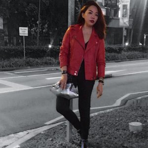 i've got satan on speed dial // after the #thomassabo #rebelatheart launch last week.  #fashion #fashionista #fashiondiaries #wiwt #ootd #style #event #instafashion #entertainment #media #nightlife #singapore #clozette #streetstyle #leather #styleoftheday #outfitoftheday #outfit #bikerjacket #outerwear