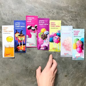 🦁🦁🦁 And now, for the 'Best Dressed Award' for the Candy & Dessert Convention 2017 is....【Candy O' Lady One Week Candy Mask Pack Set】 . Designed in such a way that you are able to mask everyday, reaping the benefits of each mask wholesomely. These cheery and deliciously depicted 7-day microfiber mask set consists of: . • Honey Milk Candy Mask • Little Witch Candy Mask • Cake Pop Candy Mask • Mystic Potion Candy Mask • Sweet Lemon Candy Mask • Mellow Cotton Candy Mask • Holiday Candy Mask . I have extracted the individual mask's function and highlighted ingredients, pasted them into the next few pictures for you guys to have a read. Slide to view them! . These yummy looking sheet mask set is available at @Hebeloft, @aLTConceptStore, @RobinsonsSG and @MetroSingapore and retails for $48/set.