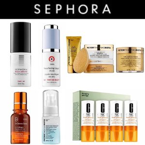 🦁🦁🦁 Haven't done a wishlist for awhile now, so here is one for the new year! Some are hot arrivals and some are highly raved about. • @Sephoracollectionedu Beauty Amplifier Set and Refresh Spray • @FirstAidBeauty 10% Resurfacing Liquid • @PeterThomasRothOfficial 24K Gold Vault • @DrDennisGross C+ Collagen Brighten and Firm Vitamin C Serum • @PeterThomasRothOfficial Water Drench Hyaluronic Cloud Serum • @Clinique Fresh Pressed Daily Booster with Pure Vitamin C 10% . SO. MANY. CANDIES. I can't even. Welp!