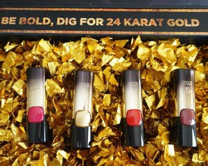 That 24 karat magic in the air!!! Check out these @lorealmakeup Color Riche #goldobsession lipsticks! Love em to bits. #yellowyum #msyellowyum #beauty #beautyph #beautyblogger #beautybloggerph #bblogger #bbloggerph #manilablogger #lifestyle #lifestyleblogger #pinayvlogger #blogger #bloggerph #youtube #youtuber #youtuberph #vlogger #vloggerph #clozette #lorealph