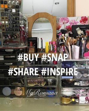 If you're new here I'd like to say hello & welcome to my #instabeauty account. I may have more than the average woman but that's bcos I am a #makeupcollector  I am truly spoilt by generous friends and family that understand my unusual hobby. Here I post photos of my #makeupcollection, my travels and all things beautiful. I use an #iphone to photograph and most recently an #iphone7plus  With my photos, my motto is simply to BUY. SNAP. SHARE and hopefully INSPIRE you to buy too. Thank you for the likes, comments and follows. Enjoy my photos! xoxoRomana💐 • • •  #MyRomana #clozette #igers #igersmalaysia