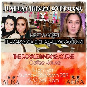I'm honoured to be given this opportunity to host another Just Us Girls event for my Instafriends. Come join me with 2 of the most sought-after makeup artists, sisters: @shazreeyanashukri and  @ferra_rossa for an afternoon of fun makeup talk, activities and networking. There will be other makeup artists & makeup junkies  at the event that you will be able to meet too. Entrance: Free. By Invitation Only. High-tea, door gifts from various sponsors. [Limited to 15 seats] How to join: The first 15 pax to DM me will get an exclusive invite • • • • Thank you for the opportunity @alysa.my • • • •  #JustUsGirlsXAlysa #MyRomana #clozette #MuaKL #MakeupArtistMalaysia #MalaysiaMakeupArtist