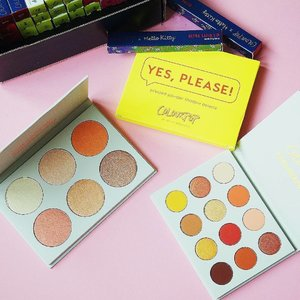 Good morning Singapore (and the rest of Asia)! Here to brighten your day further with a picture of my latest #colourpop haul which includes the Yes, Please! Eyeshadow and Gimme More! Highlighter palettes. The pressed shadows are really small and portable. SO CUTE. Haven't tried them yet but I will show you how it's like once I use it.  The background of the first pic shows some lip products I've not yet reviewed, but *planning* to (yas those who answered my poll on my blog, I heard you! More colourpop reviews to come!) How I wish I could engage another model to do the lip swatches for me LOL my poor lips are gon tear after wiping away those stubborn mattes.  #beauty#makeup#sgbeauty #sgmakeup#instabeauty#instamakeup #beautygram#beautyblogger#makeupmess #bblogger#beautybloggers#igmakeup #trendmood #allthingsmakeup#sgig#sgigmakeup #clozette #igbeauty #makeupjunkie #sephorasg#flatlay #colourpopme #colourpopcosmetics #gimmemore #yesplease #eyeshadow #eyeshadowpalette #highlight #glow