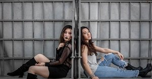 """[ HELLO FROM THE OTHER SIDE 🎵] We are on our own movie premier called """"TWO TALES"""" 😂😂😂 w/ my beautiful @lyzpopz  Direct from @madkingsproduction  Directors: @mrhellofai @shaunybravo 🤓🤓🤓🤓 #ladies_journal #fashion #lookbook #clozette #clozetteid #photography #photoshoot #ootd #igsg #sgig"""