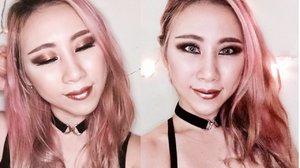 ROSE GOLD Smokey Eyes Makeup - YouTube