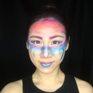 Inspired by #pridemonth to share that whatever we are, all of us are just human being that need to be loved and loving each other. I see them (LGBT Community) as human being, not judging them what they are but who they are as human being. 🌈❤️💛💚💙💜💖 I hope to see more love in my life --- #ladies_journal #makeuplook #rainbow #clozette #clozetteid #transformation