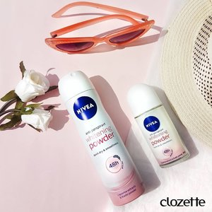 Don't we just love the scent of baby powder? Nivea's new Anti Pespirant Whitening Powder Deodorant has a powdery fragrance and brightens underarms within 14 fays of regular use. Just what we need in this humidity! #Clozette #ClozetteSHOTS #NiveaSG