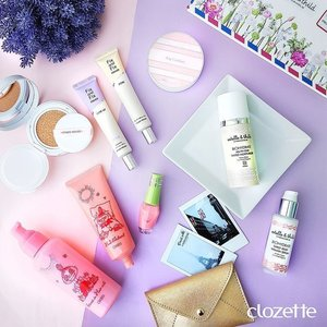 Feeling some kind of pastel today with #EtudehouseSingapore Any Cushion and Fix and Fix primers, #Estellethild Biohydrate Tinted Moisturizer, and #OrbisSG Hair-in-milk Essence. #Clozette #ClozetteSHOTS