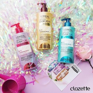 L'Oreal's 6-in1 Ever Cleansing Balms boasts smooth healthy hair without the use of conditioner! ! The balms come in 3 formulas for curly, coloured and damaged hair! Tell us which one is your favourite!  #Clozette #ClozetteSHOTS #nofoamnodamage #hairexpertisesg #lorealparissg