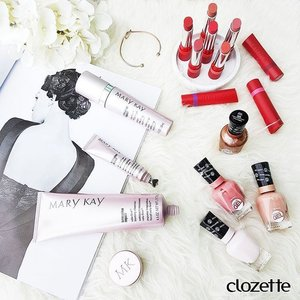 Healthy colours for our tips, lips and skin! Add a stroke of colour with @sallyhansensg's Rustic Charm Miracle Gel Polishes (there's no need for LED lamps!) and @rimmellondonsg's The Only 1 Matte Lipstick. Nourish your skin with @marykaymysg's TimeWise Repair® skincare with an anti-aging boost. #Clozette #ClozetteSHOTS #MaryKaySingapore #SallyHansenSG #SallyHansenNails #MiracleGelSG #RimmelLondonSG #theonly1matte