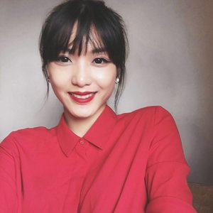 Keep smiling...cause that's all it matters to me.#KylaInTaiwan #travel #red #clozette #portrait #photography