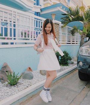 Showing off my inner Korean school girl.  Happy Saturday, everyone! 💕🌸 #clozette #clozetteambassador #teamshirubi #ootd #ootdph #patrishwears