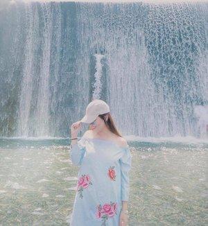 Just let go - and fall like a little waterfall. 💙 #clozette #clozetteambassador #patrishwears #ootd #ootdph #teamshirubi