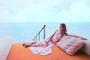 //Sometimes, we just feel like being alone.Alone with the heart, alone with the flowing emotions. 💭...#maldives #summer #finolhu #clubmed #clubmedmaldives #clubmedfinolhu #beach #beachwear #clozette #fayth #faythlabel #dressedinfayth