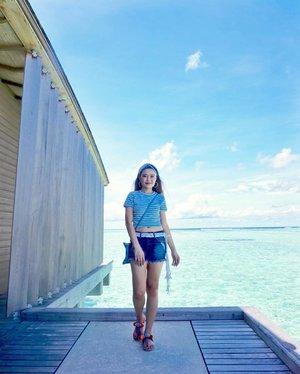 ;Blues we won't mind....#maldives #summer #finolhu #clubmed #clubmedmaldives #clubmedfinolhu #beach #beachwear #clozette #horizon #skyscape #fayth #faythlabel #dressedinfayth #hm