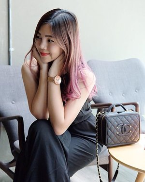 Invest in yourself, grow your garden and attract the butterflies. 💖 . . Hair: @76_style  Jumpsuit: @zaloramy  Watch: @klasse14  Bag: @chanelofficial . 📸: @fujifilmmy . . #bloggerstyle #fujifilmmy #black #chanel #chanelbag #klasse14 #76style #blogger #clozette #sgblogger #nuffnang