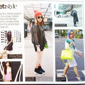 Found myself in #StyleWeekly mag! Thank you @stylexstyle for the #feature :)😘😍 #fashionblogger #clozette #ootd #style #streetstyle #sgstreetstyleawards #lotd #CrystalinNewYork #ilovemyjob