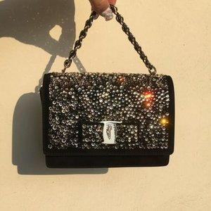 Seriously, this bag though 😱😱😍💎💥💫 @ferragamo @reebonzsg #handbag #Crystalscloset