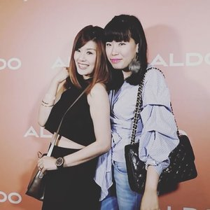 An animated gif at the preview of @aldoshoes_sg Spring/Summer 2017 collection show with my @mandalogy21 Set my eyes on a few pairs from the new collection already! Be sure to check them out in #AldoSg stores islandwide. 💌 @wom_sgpr