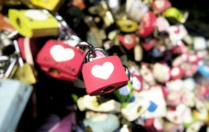 Next time it'll be your name next to mine :) #Seoul4You #TteokbokPHY #DamingAlam #clozette #NSeoulTower #travel #phyphytravels #lovelocks #seoul #korea #colorful #hearts #love