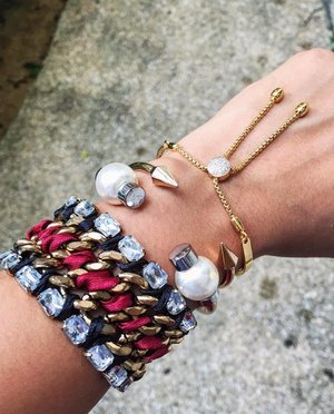 Saturday's Arm Party 🎉❤️ . . . . . .  #monicavinader #MVicons #mymv #zaradaily #mangoaccessories #armcandy #armparty #armswag #statementjewelry #whatiwore #clozette #stylist #lovedetails #styleinspiration #stylediaries #wearitloveit #styleblogger #instacool #fashionblogger #lovedetails #pursuepretty #photooftheday #fromwhereistand #thehappynow #petitejoys #sgblogger #chicatopia #stylexstyle #livelovebeauty #accessoriesoftheday