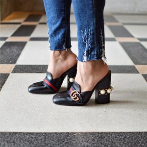 A close up of my favourite Gucci Mules this #tuesdayshoesday ✨