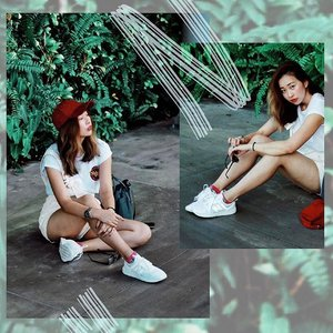 👟 @newbalancesg W O M E N ' S 2️⃣4️⃣7️⃣ 👟 | Introducing the white pair along w a more playful outfit this time 🙃😜 My toes felt so ventilated in today's crazy heat LOL 🙏🏻🙏🏻....#ootd #clozette #coordinatesoffrisbee #youthenchildish #lookbook #lookbooksg #Lifein247