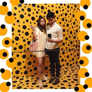 💛 | Dots, dots and more dots! What a fruitful day out w this one ✨🤗 A trip to the museum, family meals, ring shopping and a movie. Loving you more and more w each passing day, @sky.txh! What's new. . . . . #youthenchildish #ootd #clozette #coordinatesoffrisbee #coordinatesofsky #lookbook #lookbooksg #igers #igsg #sgblogger #fashionblogger #yayoikusama