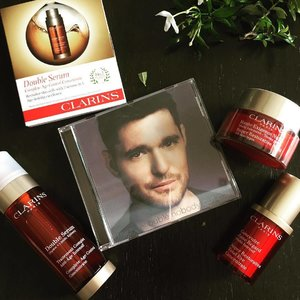 Thank you @clozetteco for the 7 days trial sample. I use Double serum every night so this trial size comes in handy when I go overseas. Today's modest stash of my holy grail of Clarins came with Michael Buble 😜 #clozette #clarinssg