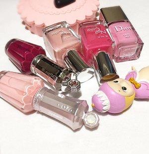 💖💕😍✨always the sweetest pinky #diorbeauty #rmk #jillstuartbeauty #houseoflashes #laduree #sonnyangel