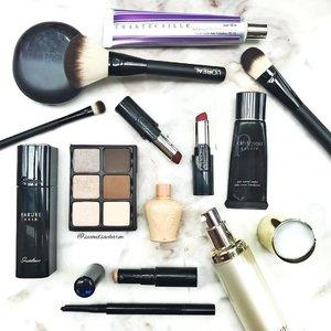 Sunday's Arsenal with L'Oréal Ultimate Designer Tools & Infallible Le Rouge Lipsticks alongside favorites from #Viseart, #Guerlain, #Chantecaille, #cledepeaubeaute #Sum37, #PaulandJoebeaute.. How was your Sunday? 🤗