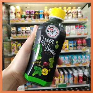 Dahil hindi talaga ako kumakain ng gulay masyado. *sigh* I'm a carnivores on most days baka kaya minsan may malnutrition ako LOL.  Sported this drink at #711 may 2 variants, chlorophyll and fiber. I prefer the green one it tastes like apple and greens, yung orange tastes like well oranges. It has no added sugar, max of 10g.  SWIPE RIGHT for more photos and video reactions 😎  #sappe #greenbooster #sunnybright #juicing #healthyeatsph #kikaysikateats #themachomom #greens #foodieph #foodbloggerph #clozette #clozetteco