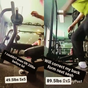 To those who've been asking me if I get bored with doing the same workouts everyweek here's my answer. NOPE. I switch weights, reps and sets, and add accessory exercises to keep my body guessing. The only thing hindering me from bigger gains is my diet and sleeping habits which I'm trying to fix now. I'll share with you videos of my accessory workouts next time 💪  #kikaysikatlifts #wendler #531 #fitnessbloggerph #fitgoals #fitnessph #doyoueven #fitpinay #fitph #benchpress #squats #girlswholift #clozette #clozetteco