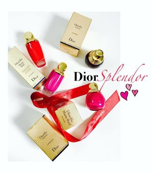"""~~super stoked to receive an early Christmas surprise from @diormakeup with a personalized festive message that reads, """"Dear Jeann, wishing you a Merry Christmas and lots of joy and hope you will enjoy our Christmas Splendor Collection! Love, #DiorMY"""" seen here are part of the collection: Diorific Vernis + Diorific Matte Fluid lip and cheek velvet colour! You can now personalize your gifts with special love messages and enjoy the art of giving, the @dior way 😘☺️😍 start exploring, lovelies and thanks Dior Malaysia for the love, always~~"""