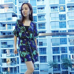 [Ootd/Fashion Review]  Wearing @laurelblooms romper in tropical prints for this hot weather. Thanks for sending this over! ❤️ . . . . . . . #ootd #wiwt #ootdcampaign . . . #imageconsultant #fashion #lifestyleblogger #clozette #starclozetter #sgblogger #fashionblogger #beautyblogger #lifestyle #stylexstyle #travelblogger