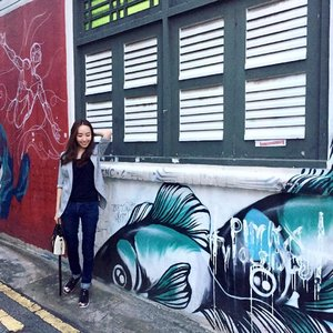 Grafitti... an art of expression.  Grey jacket by @joopboutique Jeans by @calvinklein. Shoes by @adidas_sg @adidasoriginals .  #ootd #wiwt #ootdcampaign #apparels #clothes . . . . .  #instasg #potd #igers #singapore #love #fun #stylexstyle #fashion #lifestyleblogger #clozette #starclozetter #sgblogger #fashionblogger #beautyblogger #lifestyle #picoftheday #sg