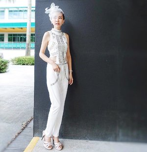 [Ootd/Fashion Review] My outfit for Queen Elizabeth II Cup 2017 last Saturday. 😊 Modern design with the metallic square studs for a futuristic one piece jumpsuit. So comfortable and I don't need to crack my brains to think of how to match any top or bottoms. 💪.. . .Check this out together with the rest of the collections at @kakooandayano now! 👌 . . .Kakoo has 3 outlets: 1. Kakoo, The Centre Point #02-49 (6235 9695)2. Kakoo, Novena Square #02-19 (6255 5590)3. Ayano, People's Park Complex#03-1128A (6438 0336)......#ootd #wiwt #ootdcampaign #ootdsg #instastyle#sgig...#imageconsultant #instasg #potd #igers #singapore#fashion #lifestyleblogger #clozette #starclozetter#sgblogger #fashionblogger #beautyblogger#lifestyle #picoftheday #sg #stylexstyle#travelblogger #iamtb #fashionstylist